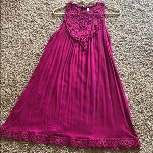 Dark Pink Lace Dress from Target